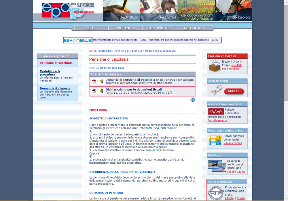 sito web www.epap.it