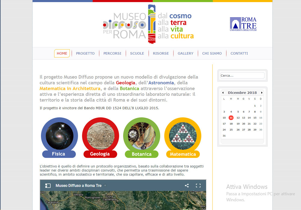 sito web museodiffuso.uniroma3.it