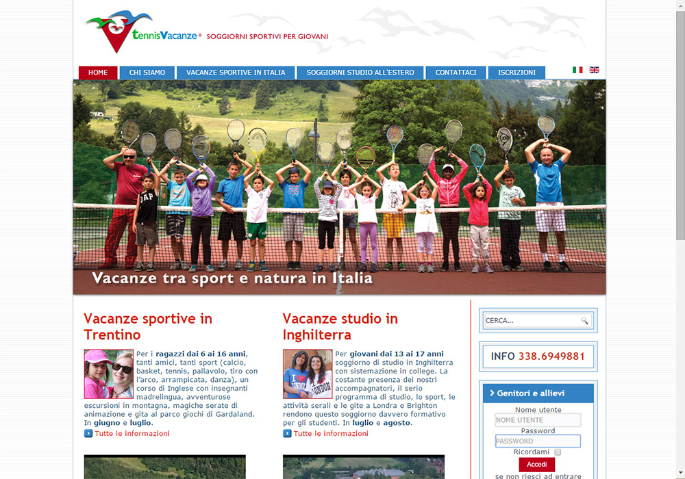 sito web www.tennisvacanze.it